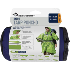 Sea to Summit 70D Poncho de Lona, blue
